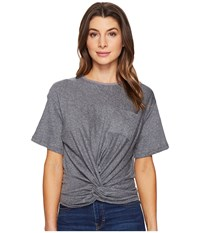 Culture Phit Bria Twist Front Top Heather Grey Women's Clothing Gray
