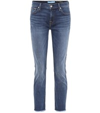 7 For All Mankind Roxanne Ankle Skinny Jeans Blue