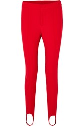 Moncler Grenoble Stretch Twill Stirrup Pants Red