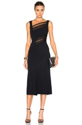 Roland Mouret Clairvale Viscose And Layered Lace Dress In Black