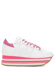 Philippe Model Eiffel Leather Sneakers White Pink
