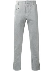 Incotex Classic Chinos Men Cotton Linen Flax 40 Grey