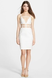 Whitney Eve 'Bitter Melon' Sleeveless Cutout Dress White