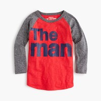 J.Crew Boys' Three Quarter Sleeve The Man T Shirt In The Softest Jersey