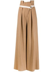 Golden Goose Striped Palazzo Pants Neutrals