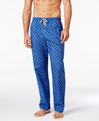 Michael Kors Men's Windowpane Plaid Logo Woven Pajama Pants Atlantic