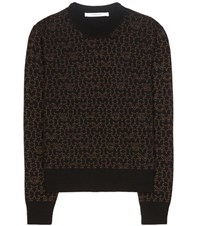 Givenchy Printed Wool And Cashmere Blend Sweater Black
