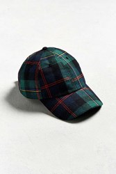 Urban Outfitters Uo Tartan Plaid Hat Green