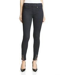 True Religion Lace Up Denim Leggings In Overdye Black Cpld Overdye Black