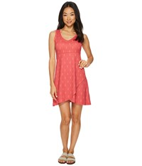 Fig Clothing Axa Dress Obsidian Pink Red