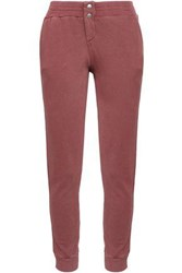 Monrow French Cotton Terry Track Pants Grape