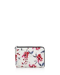Ivanka Trump Rio Tech Floral Leather Clutch Spring Floral Silver