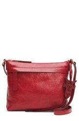 Frye Carson Leather Crossbody Bag Red