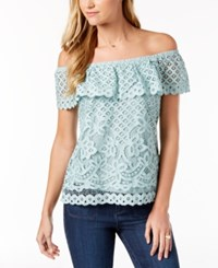 Maison Jules Off The Shoulder Top Created For Macy's Silver Sage