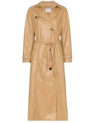 Nanushka Chiara Trench Coat Neutrals