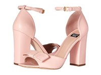 Boutique Moschino Ankle Strap Heel With Bow Blush Women's Sandals Pink