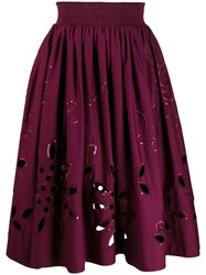 Emilio Pucci Broderie Anglaise High Waisted Skirt 60