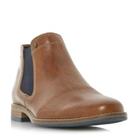 Dune Chicago 1 Plain Toe Chelsea Boot Tan
