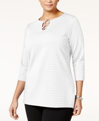 Jm Collection Plus Size Embellished Keyhole Tunic Only At Macy's Winter White