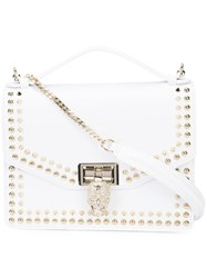 Philipp Plein Studded Cross Body Bag Women Leather One Size White