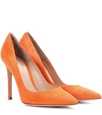 Gianvito Rossi 105 Suede Pumps Orange