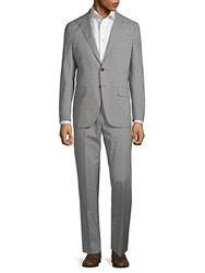 Eidos Checkered Wool Suit Grey