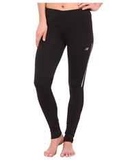 New Balance Mid Rise Impact Tight Black Women's Workout