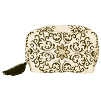Chesca Floral Embroidered Clutch Bag Natural Black