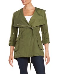 Guess Asymetrical Anorak Jacket Olive