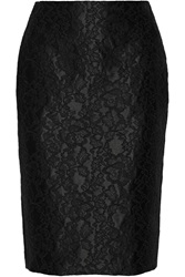 Adam By Adam Lippes Lace Appliqued Satin Pencil Skirt