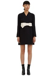 Valentino Short Kimono Wrap Dress Black