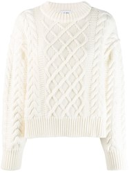 Each X Other Cropped Cable Knit Jumper White