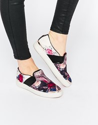 Ted Baker Laulei Floral Print Slip On Trainers Multi
