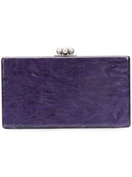 Edie Parker Box Clutch Bag Women Acrylic One Size Pink Purple