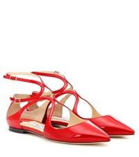 Jimmy Choo Lancer Patent Leather Ballet Flats Red