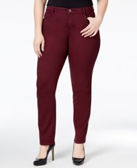 Styleandco. Style And Co. Plus Size Tummy Control Slim Leg Jeans Only At Macy's Dried Plum