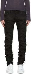 Diesel Black Gold Black Super Long Skinny Jeans