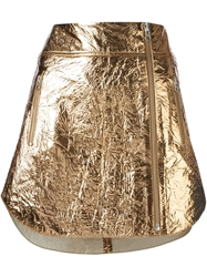 Mcq By Alexander Mcqueen Wrinkled Effect Mini Skirt Metallic