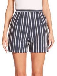 Stella Jean Lupo Striped Shorts Navy White Stripe