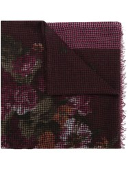 Destin Floral Print Scarf Pink And Purple