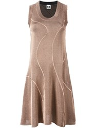 M Missoni Metallic Effect Knit Dress Pink And Purple