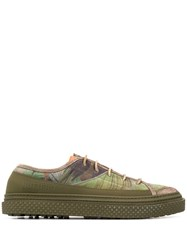 Buttero Foliage Print Low Top Sneakers 60