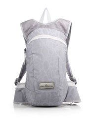 Adidas By Stella Mccartney Reflective Lace Print Backpack Silver Seed Pearl