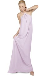 Women's Ceremony By Joanna August 'Casey' Twist Neck Chiffon A Line Gown Lilac