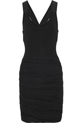 Bailey 44 Draped Jersey Dress Black