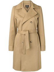 A.P.C. Belted Trench Coat Neutrals