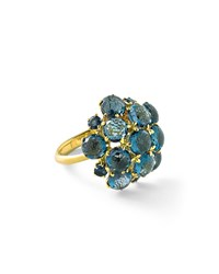 Lollipop London Blue Topaz Bubble Ring Gold Ippolita