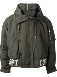 Raf Simons Sterling Ruby Military Style Padded Jacket Green