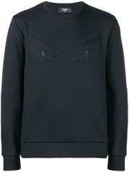 Fendi Bug Eyes Sweatshirt Blue