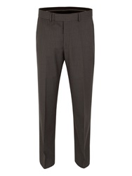Pierre Cardin Stripe Regular Fit Trouser Grey